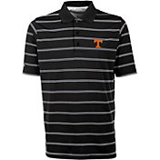 Antigua Men's Tennessee Volunteers Deluxe Performance Black Polo