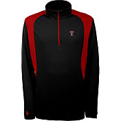 Antigua Men's Texas Tech Red Raiders Delta Quarter-Zip Black Pullover