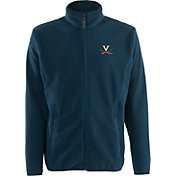 Antigua Men's Virginia Cavaliers Blue Ice Full-Zip Jacket