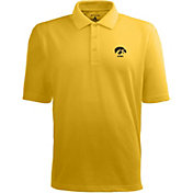 Antigua Men's Iowa Hawkeyes Gold Xtra-Lite Polo