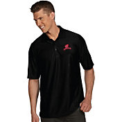 Antigua Men's Wisconsin Badgers Black Illusion Polo