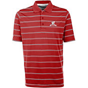 Antigua Men's Wisconsin Badgers Red Deluxe Performance Polo