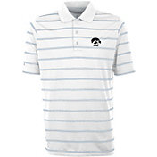 Antigua Men's Iowa Hawkeyes Deluxe Performance White Polo