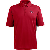 Antigua Men's San Francisco 49ers Pique Xtra-Lite Dark Red Polo