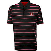 Antiqua Men's San Francisco 49ers Black Deluxe Polo