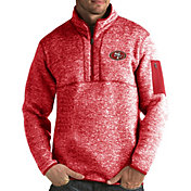 Antigua Men's San Francisco 49ers Fortune Red Pullover Jacket