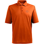 Antigua Men's Chicago Bears Pique Xtra-Lite Orange Polo