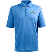 Antigua Men's San Diego Chargers Pique Xtra-Lite Blue Polo