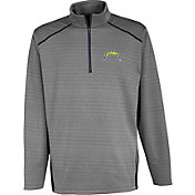 Antigua Men's San Diego Chargers Haze Quarter-Zip Grey Jacket