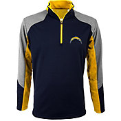 Antigua Men's San Diego Chargers Mighty Navy Quarter-Zip Jacket