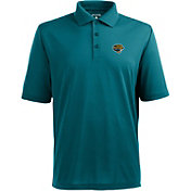 Antigua Men's Jacksonville Jaguars Pique Xtra-Lite Teal Polo