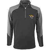 Antigua Men's Jacksonville Jaguars Mighty Grey Quarter-Zip Jacket