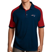 Antigua Men's New England Patriots Century Navy Polo