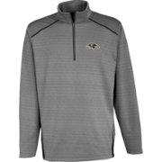 Antigua Men's Baltimore Ravens Haze Quarter-Zip Grey Jacket