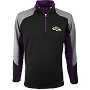 Antigua Men's Baltimore Ravens Mighty Black Quarter-Zip Jacket