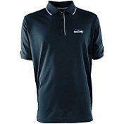 Antigua Men's Seattle Seahawks Elite Navy Polo