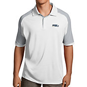 Antigua Men's Seattle Seahawks Century White Polo