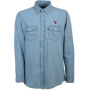 Antigua Men's Houston Texans Chambray Button-Up Shirt