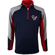 Antigua Men's Houston Texans Mighty Navy Quarter-Zip Jacket