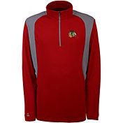 Antigua Men's Chicago Blackhawks Delta Red Quarter-Zip Top