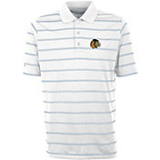 Antigua Men's Chicago Blackhawks Deluxe White Polo Shirt