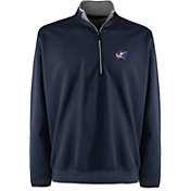 Antigua Men's Columbus Blue Jackets Leader Navy Quarter-Zip Pullover Jacket