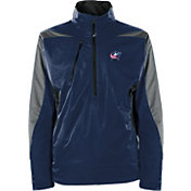 Antigua Men's Columbus Blue Jackets Discover Navy Half-Zip Pullover Jacket