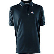 Antigua Men's Columbus Blue Jackets Xtra-Lite Elite Navy Polo