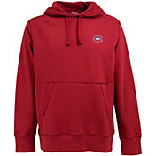 Antigua Men's Montreal Canadiens Red Signature Fleece Hoodie
