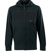 Antigua Men's Montreal Canadiens Carbon Fiber Charcoal Full-Zip Hoodie