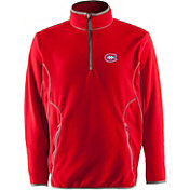 Antigua Men's Montreal Canadiens Red Quarter-Zip Ice Pullover