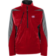 Antigua Men's Montreal Canadiens Discover Red Half-Zip Pullover Jacket