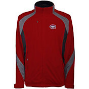 Antigua Men's Montreal Canadiens Tempest Red Full-Zip Jacket