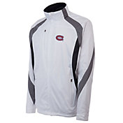 Antigua Men's Montreal Canadiens Tempest White Full-Zip Jacket