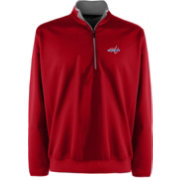 Antigua Men's Washington Capitals Leader Red Quarter-Zip Pullover Jacket