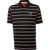 Antigua Men's Philadelphia Flyers Deluxe Black Polo Shirt