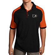 Antigua Men's Philadelphia Flyers Black/Orange Century Polo