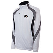 Antigua Men's Philadelphia Flyers Tempest White Full-Zip Jacket