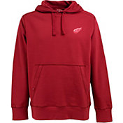 Antigua Men's Detroit Red Wings Red Signature Fleece Hoodie