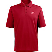 Antigua Men's Detroit Red Wings Red Xtra-Lite Pique Performance Polo