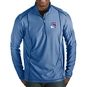 Antigua Men's New York Rangers Tempo Half-Zip Pullover Shirt