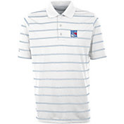 Antigua Men's New York Rangers Deluxe White Polo
