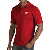 Antigua Men's Detroit Red Wings Inspire Red Polo