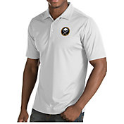 Antigua Men's Buffalo Sabres Inspire White Polo