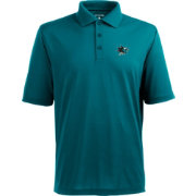 Antigua Men's San Jose Sharks Pique Xtra-Lite Teal Polo