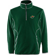 Antigua Men's Minnesota Wild Green Quarter-Zip Ice Pullover