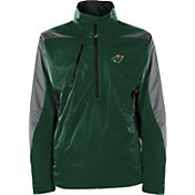 Antigua Men's Minnesota Wild Discover Green Half-Zip Pullover Jacket