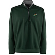 Antigua Men's Minnesota Wild Leader Green Quarter-Zip Pullover Jacket