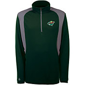 Antigua Men's Minnesota Wild Delta Hunter Green Quarter-Zip Top