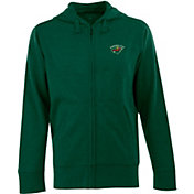 Antigua Men's Minnesota Wild Hunter Green Full-Zip Fleece Hoodie